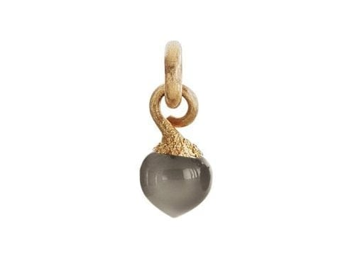 Ole Lynggaard Dew Drop Charm Grey Moonstone Yellow Gold A2633-401
