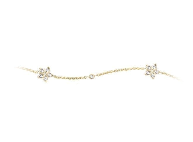 Ole lynggaard Shooting Star Bracelet Yellow Gold x36 Diamonds A2866-401 Trewarne Jewellery Melbourne
