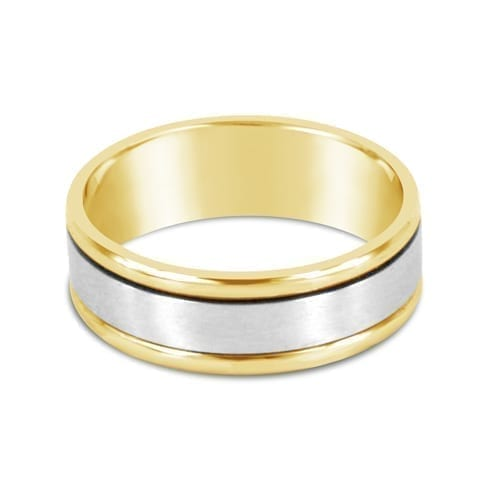 Saturn Two Tone Mens Wedding Ring Melbourne
