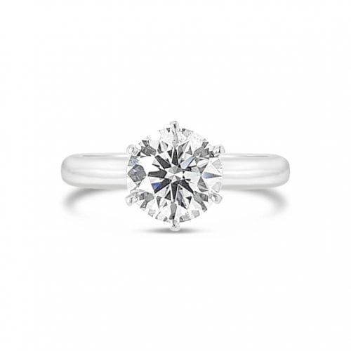 Trewarne Goddess Aphrodite Large Solitaire Diamond Ring Top View