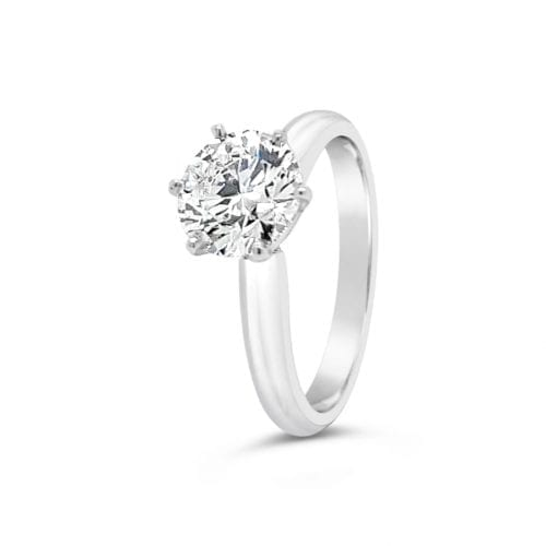 Trewarne Goddess Aphrodite Solitaire Diamond Ring Side View