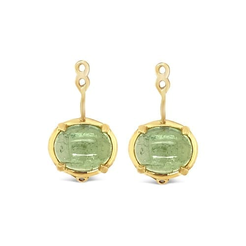 artemis.green.tourmaline.drops.warm.oval.yellow.gold.trewarne.earring