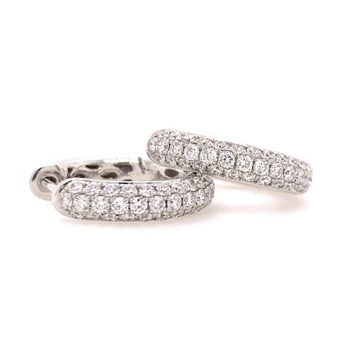 diamond,huggies,hoop,earrings,pave,white.gold.trewarne.jewellers.melbourne