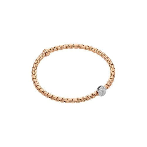 fope,eka,tiny,bracelet,rose,gold,italian,pave,diamonds,trewarne,jewellery,melbourne
