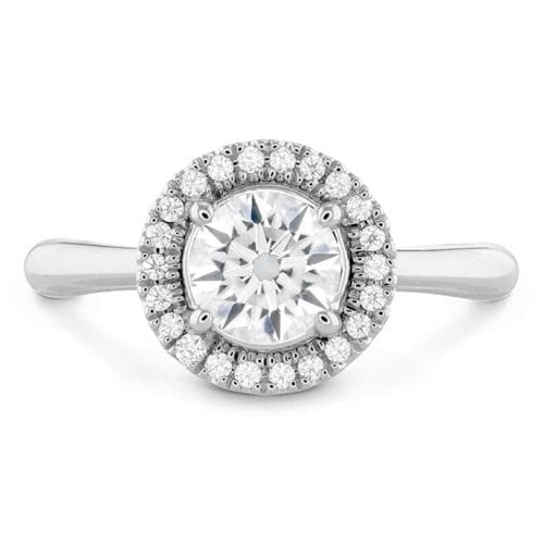 Hearts On Fire Destiny Hof Halo Engagement Ring Melbourne