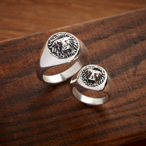 lion.signet.ring.small.large.courage.spiritman.styled
