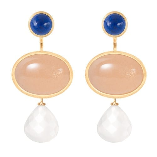 pendantforearrings.18k.Melbourne.jewellery.lapislazuli.blushmoonstone.earrings.yellowgold.lotus.milkywhitequartz