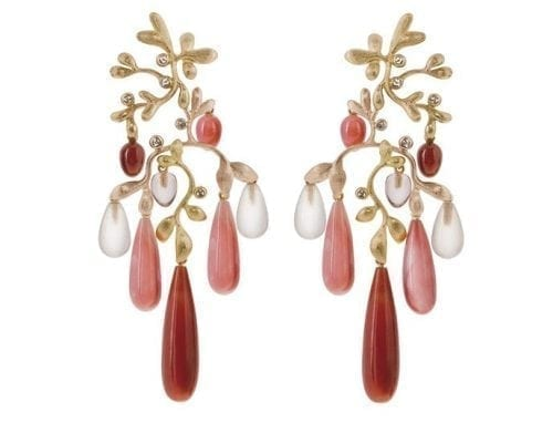 Ole Lynggaard Copenhagen Gipsy Earrings A2659-406 Earring Gipsy 18K Yellow & Rose Gold. Length 8.5cm