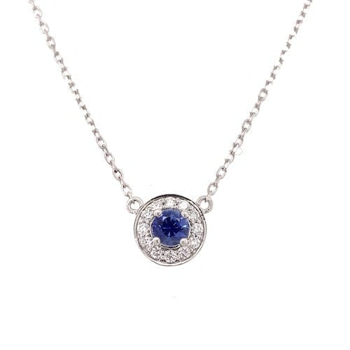 trewarne.jewellery.pendant.necklace.blue.diamond.halo.sapphire.bluesapphire.melbourne