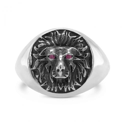 lion.signet.pinky.ring.sterling.silver.courage.ring.mens.jewellery.trewarne.spiritman