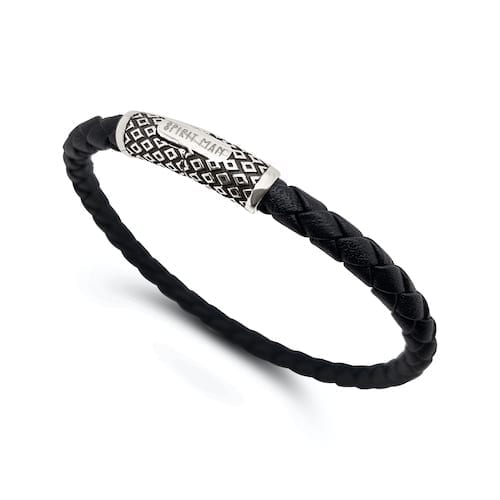 spiritman.woven.leather.bracelet.tribe.sterling.silver.clasp.trewarne.melbourne