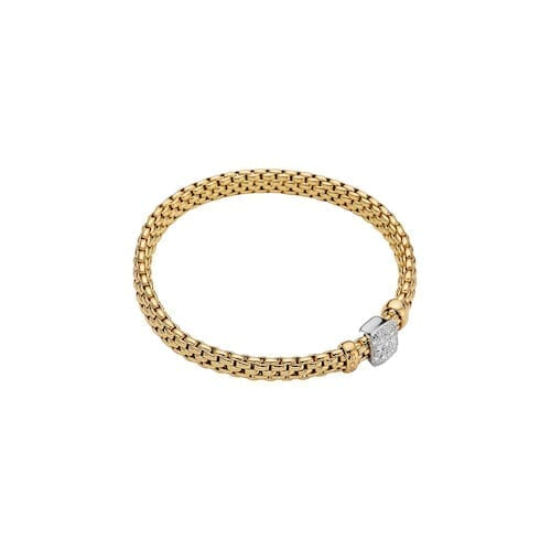 fope_veddome_bracelet_pave_yellow_gold_italian_trewarne_melbourne