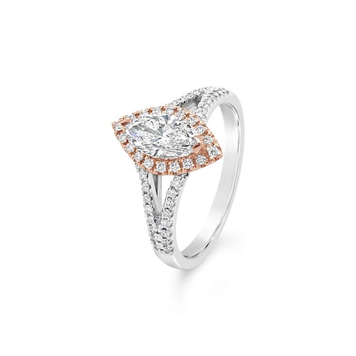Tyche.marquise.diamond.engagement.ring.melbourne.white.gold.rose.gold