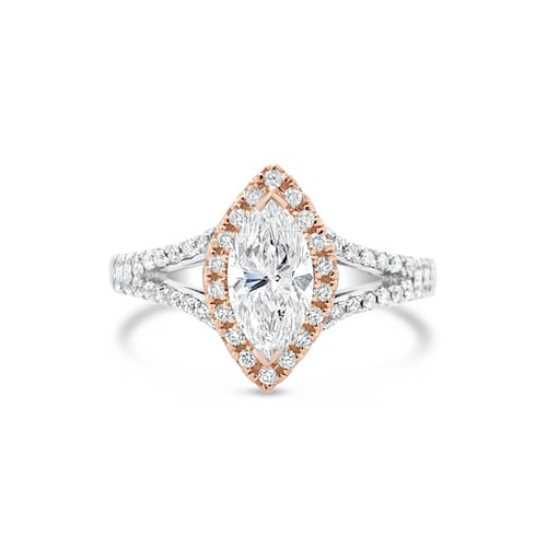 marquise.diamond.engagement.ring.rose.gold.white.gold.trewarne.melbourne