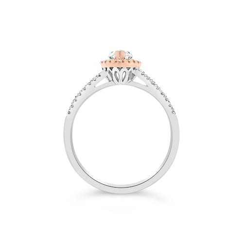 marquise.diamond.engagement.ring.rose.gold.white.gold.trewarne.melbourne.jewellers.diamond.guild.australia