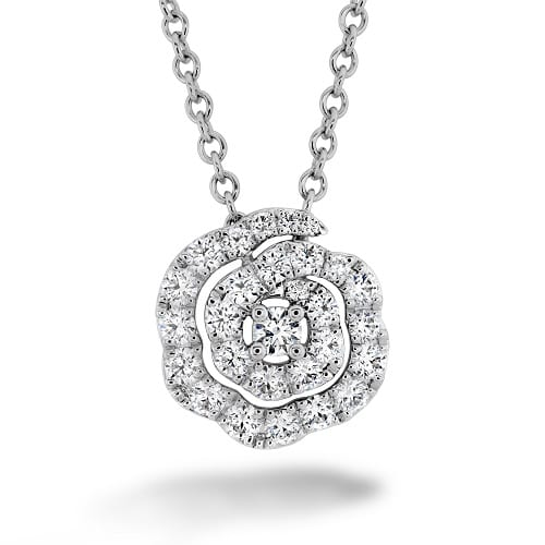 Lorelei Diamond Floral Pendant Small