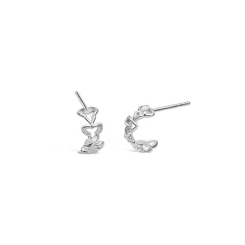 160790 Wild Iris mini loop earrings