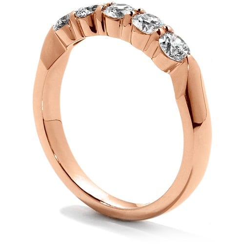 Hearts On Fire Five-Stone Wedding Band rose gold