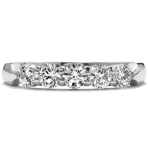 Hearts On Fire Five-Stone Wedding Band white gold
