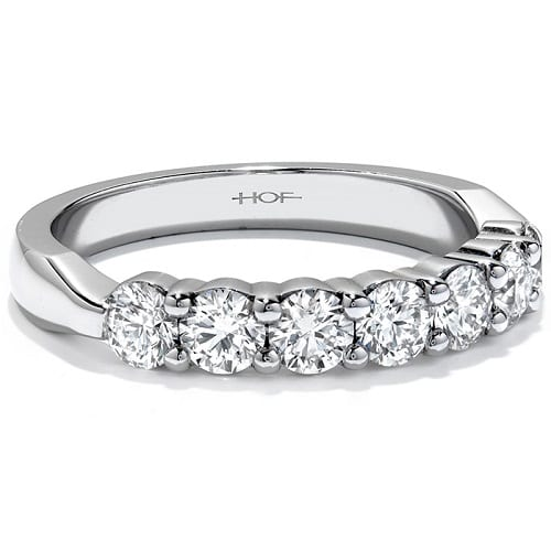 Hearts On Fire seven stone band white gold