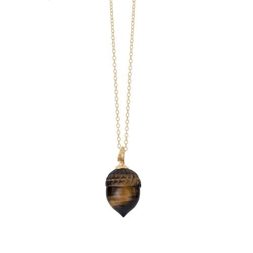 A2920-401 Forest pendant in 18K yellow gold with tiger eye